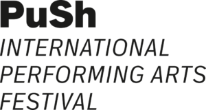 A text logo for the PuSh International Perofrming Arts Festival