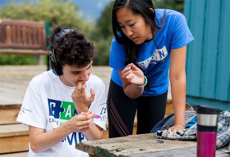 Overnight Summer Camp for Young Adults with Autism