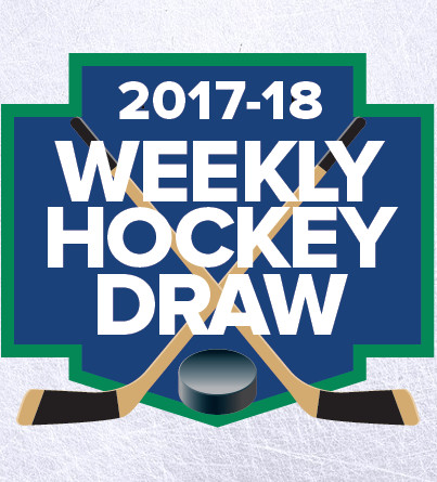 Poster for a weekly hockey draw.