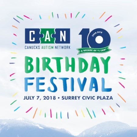 Logo for the CAN Birthday Festival on July 7, 2018, at Surrey's Civic Plaza.