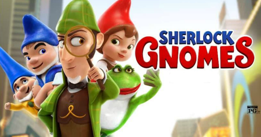 Promotional poster for animated film Sherlock Gnomes