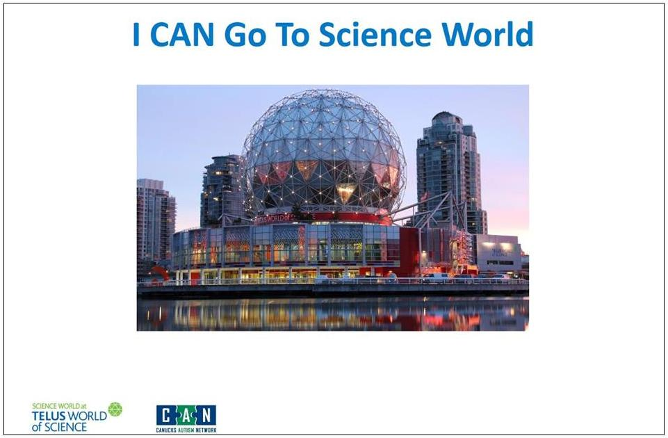 "Cover photo of ""I CAN Go To Science World"" activity storybook."