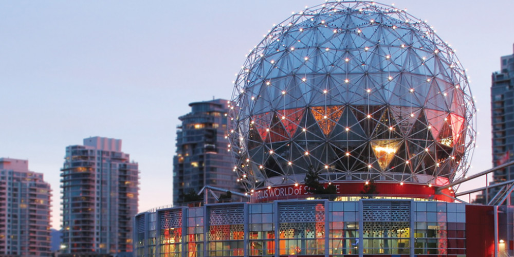 The Science World dome in Vancouver