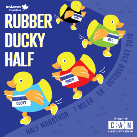 Animated graphic of rubber duckies running.