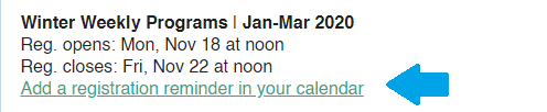 AddEvent Calendar Reminder